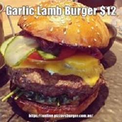 Garlic Lamb burger