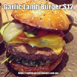Garlic Lamb burger