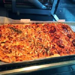 Loaded pizza